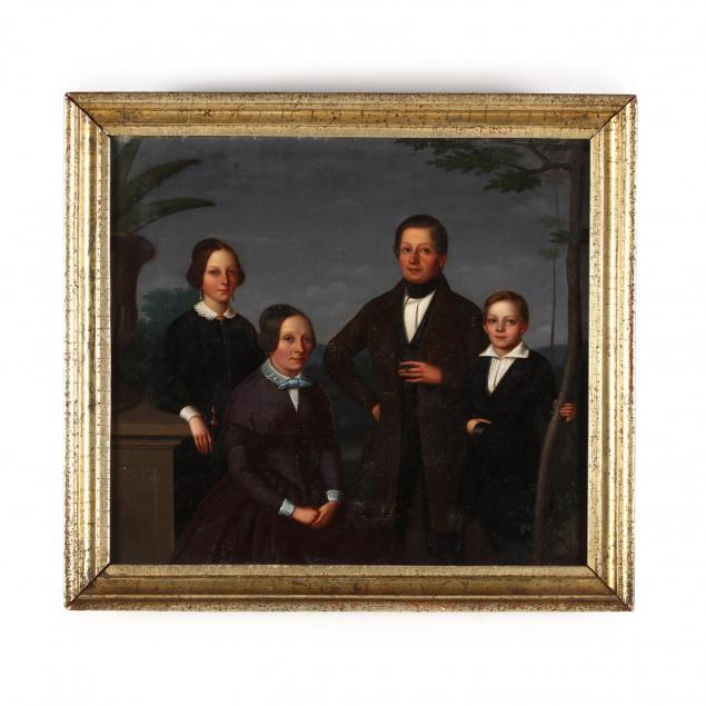 southern-school-portrait-of-a-family-circa-1850