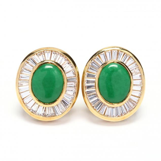 18kt-gold-jade-and-colorless-stone-earrings