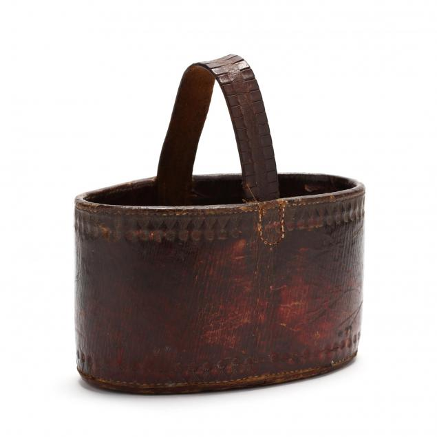 north-carolina-tooled-leather-key-basket