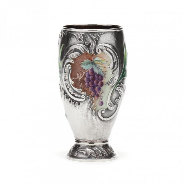 russian-silver-enamel-beaker