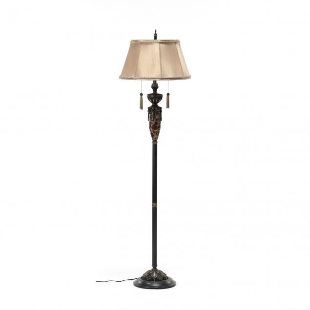 contemporary-bronze-tone-and-marble-floor-lamp
