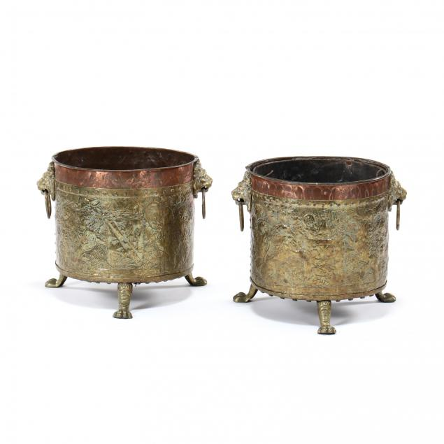 pair-of-antique-english-brass-jardinieres