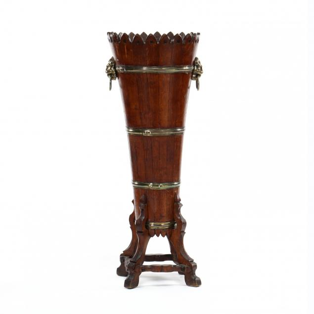 antique-english-oak-and-brass-jardiniere