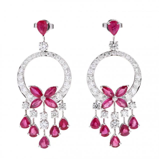 platinum-ruby-and-diamond-chandelier-earrings
