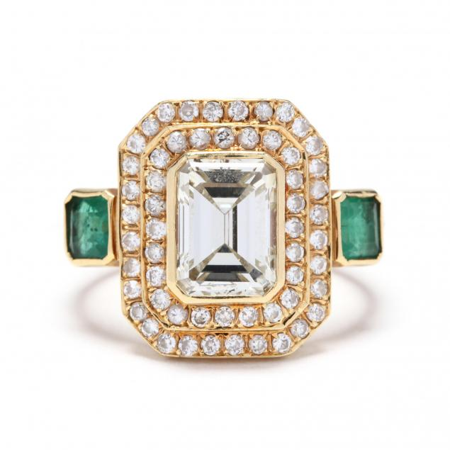 18kt-gold-diamond-and-emerald-ring