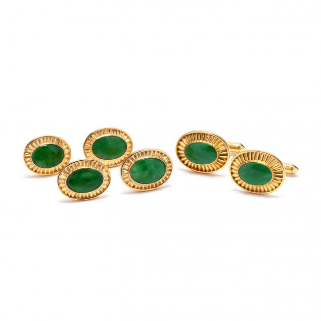 gent-s-14kt-gold-and-jadeite-dress-set