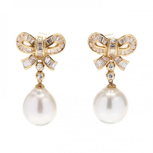 gold-pearl-and-diamond-earrings