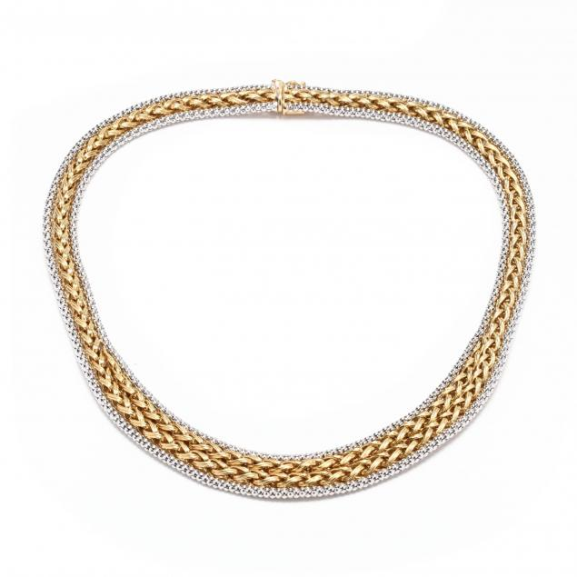 18kt-bi-color-gold-necklace-italy