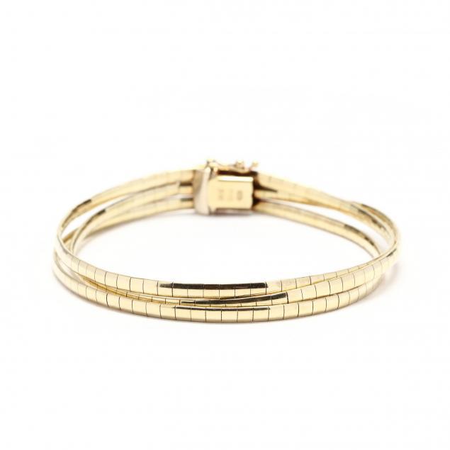 14kt-gold-triple-strand-bracelet-unoaerre