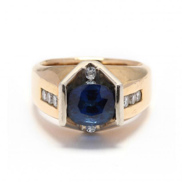 16kt-and-18kt-bi-color-gold-sapphire-and-diamond-ring