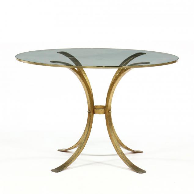 italian-modern-gilt-metal-and-glass-center-table