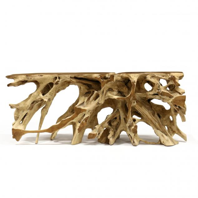 single-rootwood-form-console-table