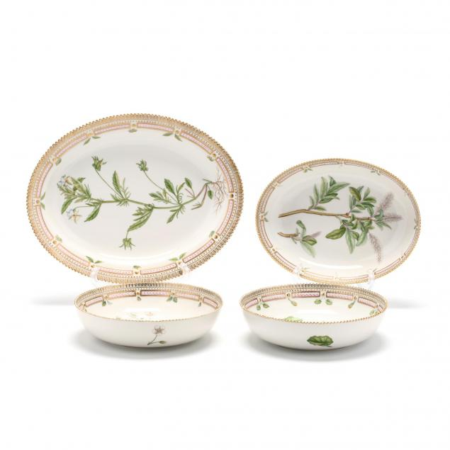 four-royal-copenhagen-flora-danica-porcelain-serving-dishes