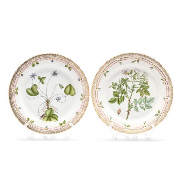 a-pair-of-royal-copenhagen-flora-danica-porcelain-round-platters