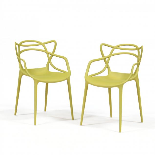 philippe-starck-and-eugeni-quitlet-pair-of-masters-chairs