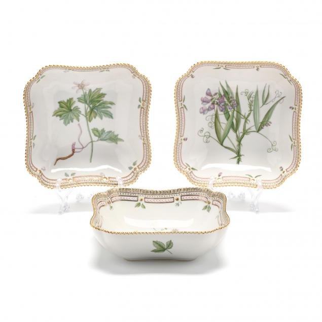 three-royal-copenhagen-porcelain-vegetable-serving-bowls