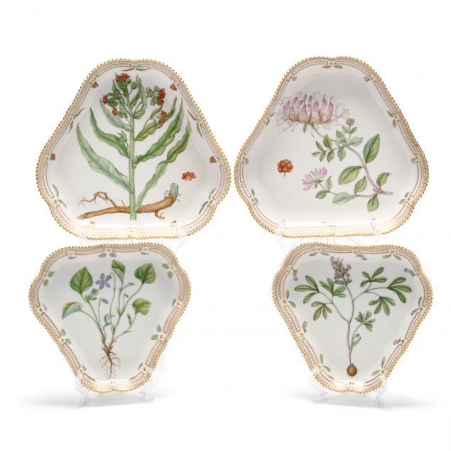 four-royal-copenhagen-flora-danica-porcelain-cake-dishes