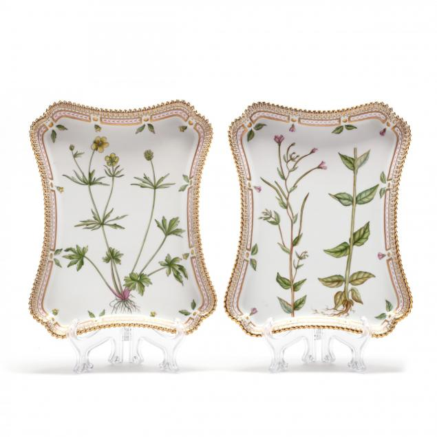 a-pair-of-royal-copenhagen-flora-danica-porcelain-trays