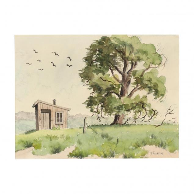 martha-elizabeth-burchfield-richter-ny-1924-1977-rural-landscape