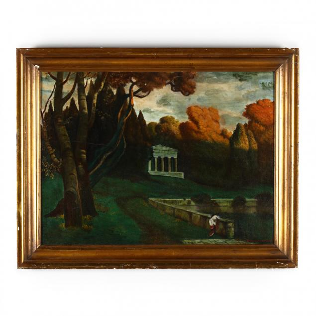 an-antique-american-school-painting-columbia-weeping-at-death-of-gen-lee