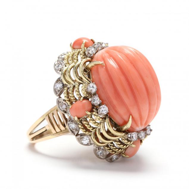18kt-gold-coral-and-diamond-ring
