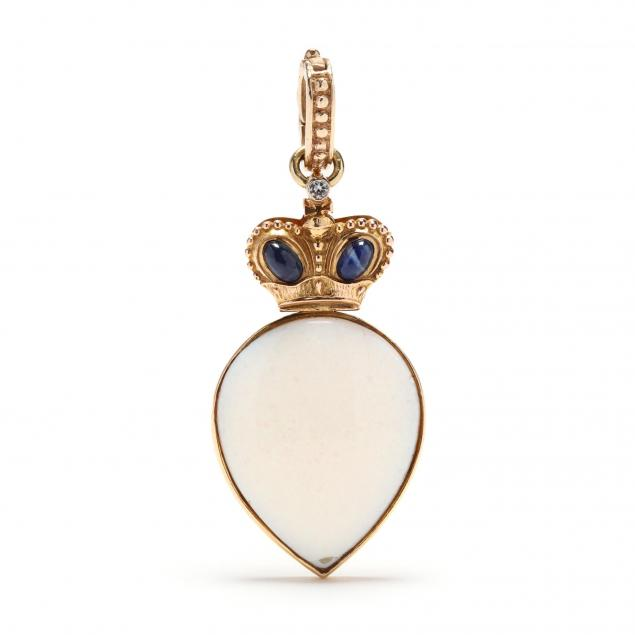 14kt-gold-opal-and-gem-set-pendant-russian