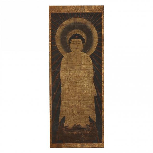 a-japanese-kamakura-period-amida-raigo-painting
