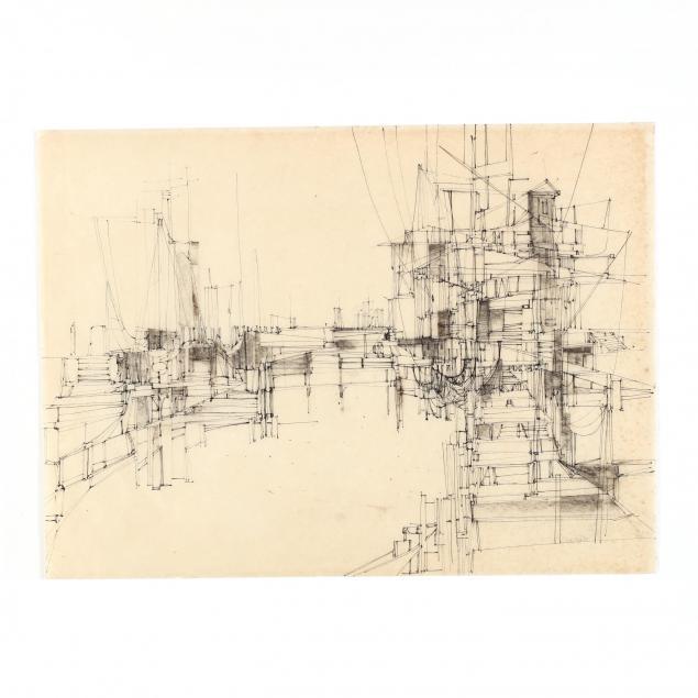 joe-cox-nc-1915-1997-line-drawing