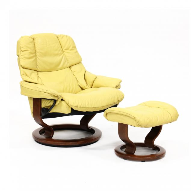 ekornes-stresless-yellow-leather-lounge-chair-and-ottoman