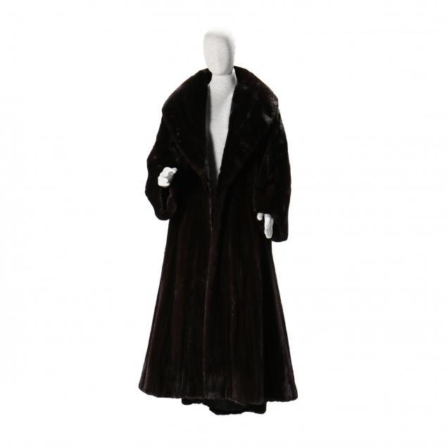 a-ladies-floor-length-mahogany-mink-coat-donna-karan-label