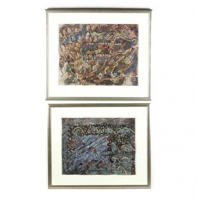 frank-faulkner-ny-sc-born-1946-two-mixed-media-works-on-paper