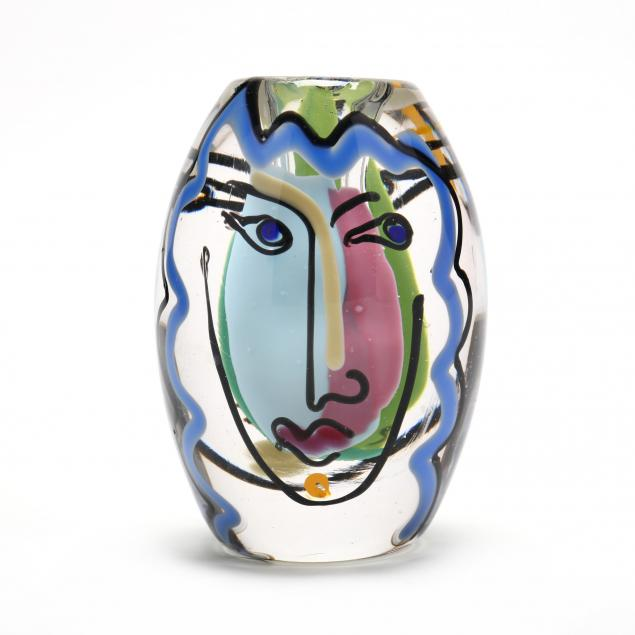 bernstein-nc-small-glass-face-vase