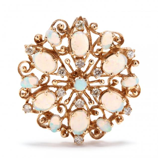 14kt-gold-opal-and-diamond-brooch-pendant