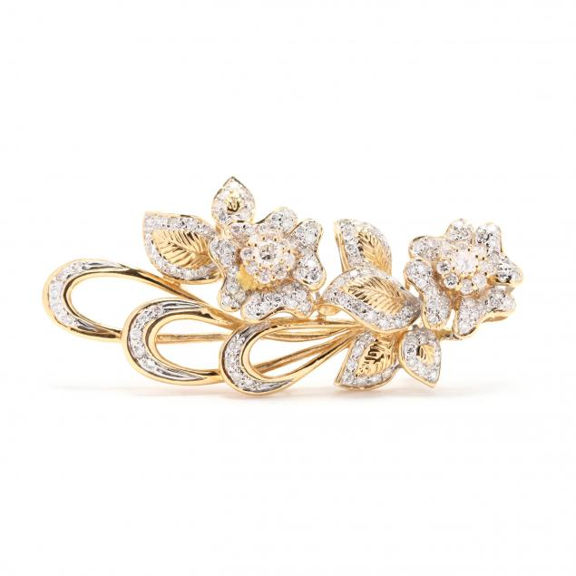 18kt-gold-and-diamond-brooch