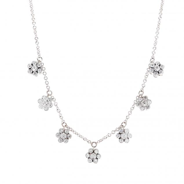 18kt-white-gold-and-floral-motif-diamond-necklace-italy