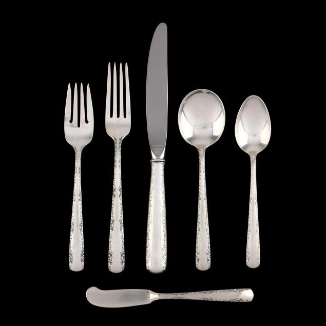 gorham-camellia-sterling-silver-flatware-service