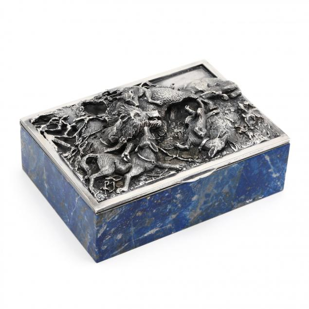 an-exceptional-silver-hardstone-table-box-dunhill