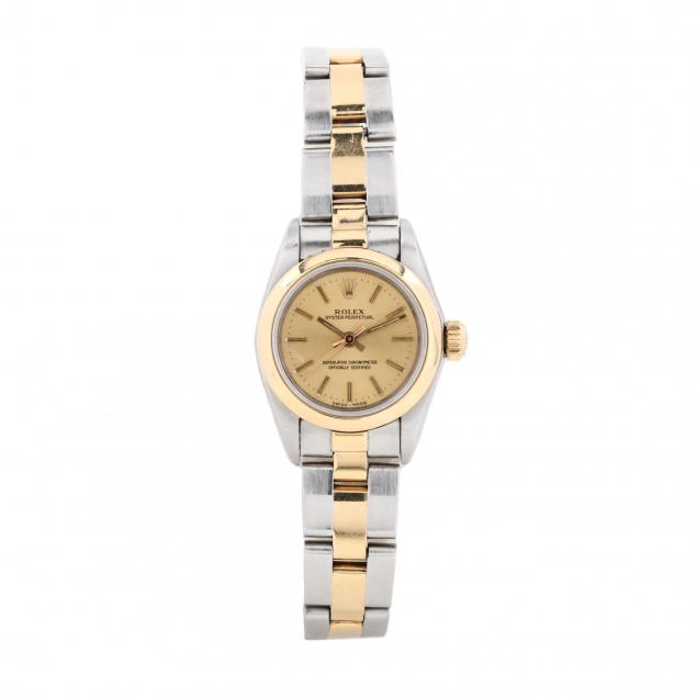 lady-s-two-tone-oyster-perpetual-watch-rolex
