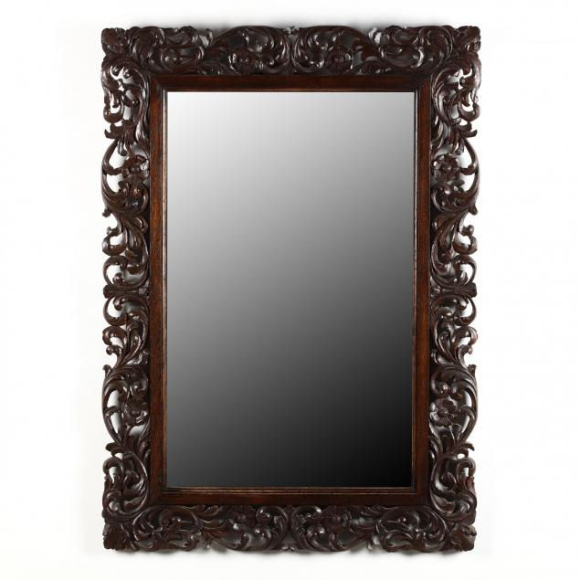 continental-carved-oak-mirror