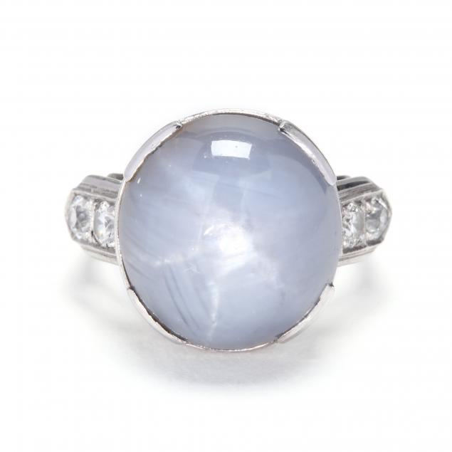 vintage-white-gold-star-sapphire-and-diamond-ring