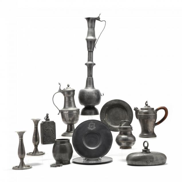 twelve-antique-pieces-of-pewter