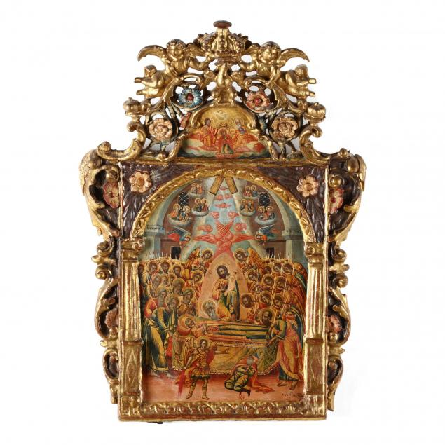 an-antique-greek-icon-of-the-dormition-of-our-most-holy-lady-theotokos-and-ever-virgin-mary