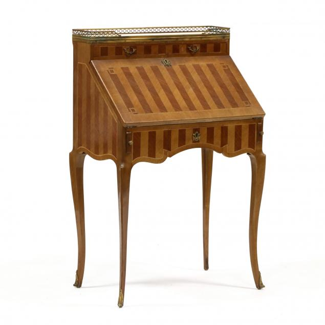french-parquetry-inlaid-marble-top-writing-desk