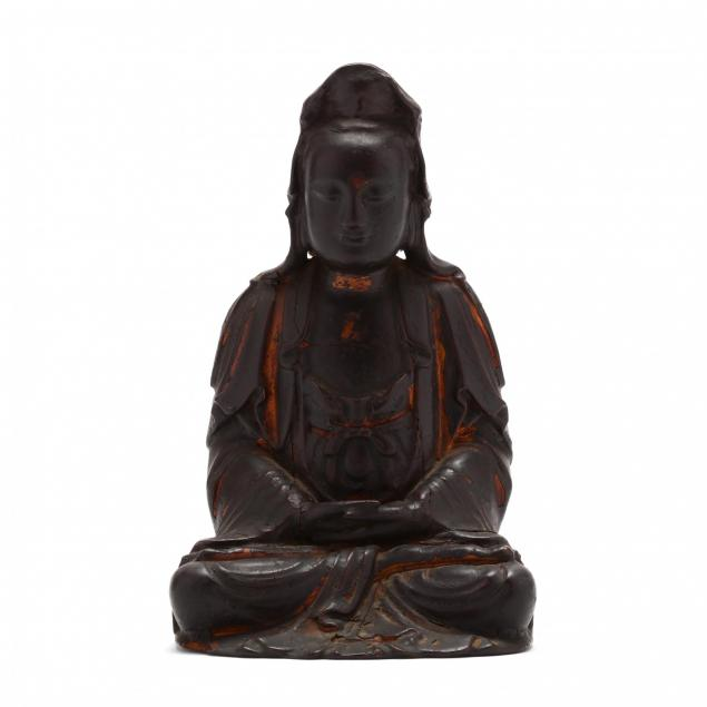 a-chinese-carved-and-lacquered-wooden-guanyin-sculpture
