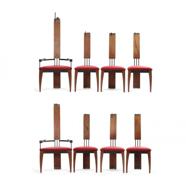 frederick-l-wall-american-b-1947-set-of-eight-post-modern-dining-chairs