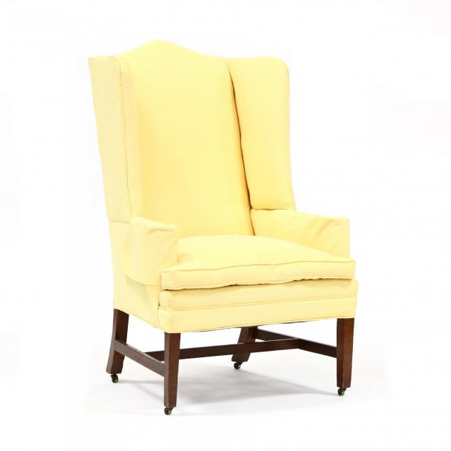 new-england-hepplewhite-mahogany-wing-chair