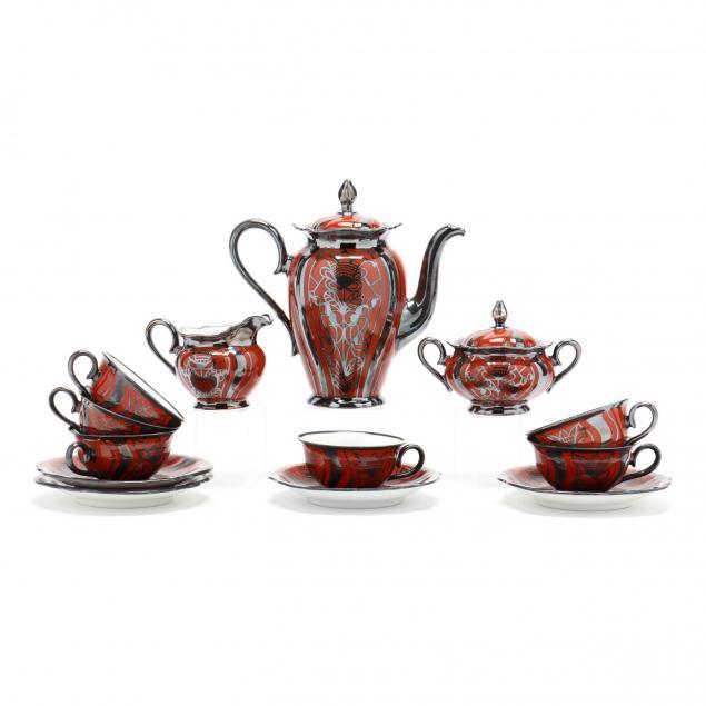 rosenthal-silver-overlay-porcelain-demitasse-set