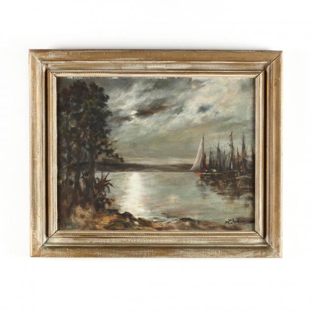 marguerite-weidenman-ny-ct-1868-1955-moonlit-harbor