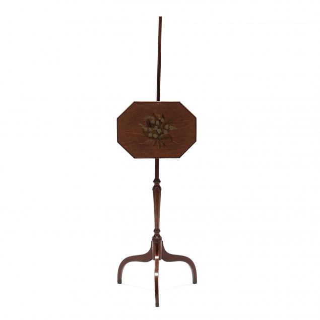 regency-inlaid-mahogany-pole-screen
