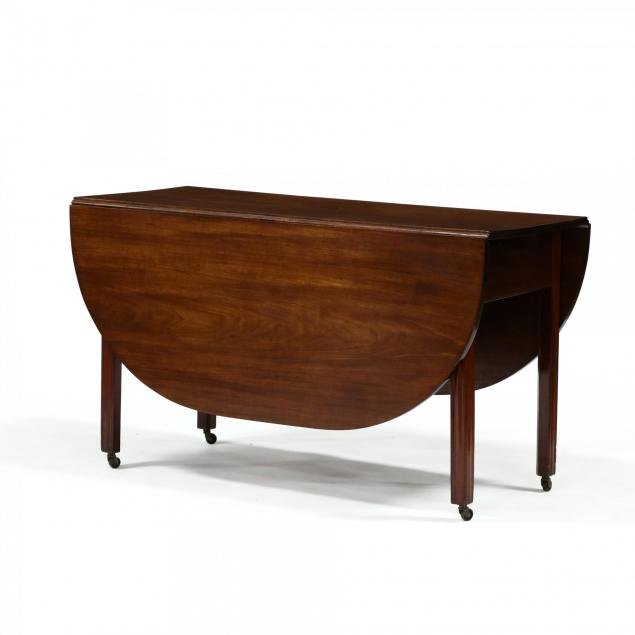 new-england-chippendale-carved-mahogany-drop-leaf-dining-table